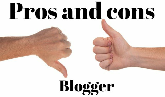 Pros and cons of blogger
